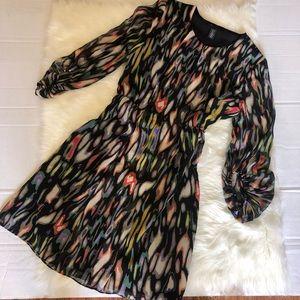 Kenneth Cole Chiffon Sheath Dress